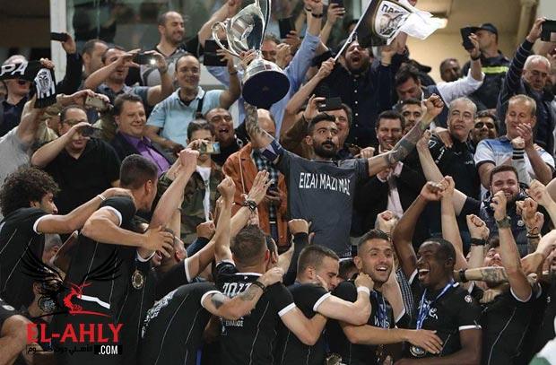 في غياب عمرو وردة .. باوك يتوج بلقب كأس اليونان