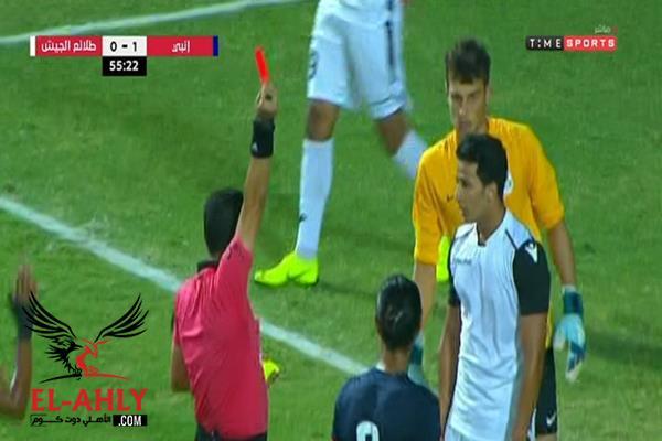 طرد عمرو جمال في مباراة طلائع الجيش وإنبي بالدوري - الأهلى . كوم